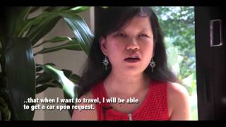 Yvonne Foong travels with Uber for independent living. 8th March 2015