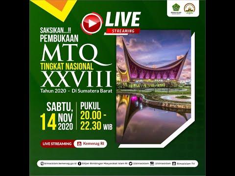 Pembukaan MTQ Tingkat Nasional XXVIII Tahun 2020 di Sumatera Barat