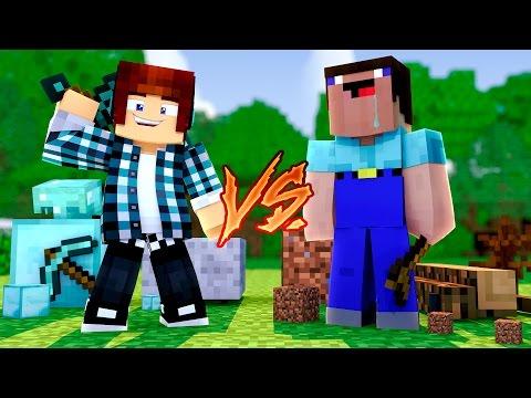 Minecraft: NOOB VS PRO - ( Nova Série c/ TazerCraft)