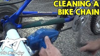 how to clean the gears and chain on a bicycle