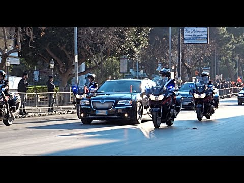 Motorcade Of Chinese President Xi Jinping In Palermo / SCORTA Presidente Cina Xi Jinping A Palermo