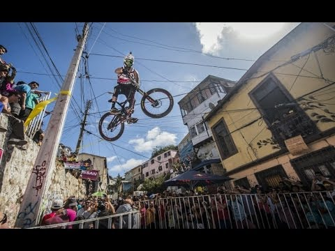 Red - Red Bull Valparaiso Cerro Abajo 2014See mountain biking like you have never seen it before: http://win.gs/1lxRNQQ The 12th year of Downhill urban mountain bi...