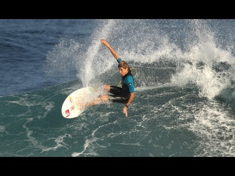Fioravanti - Considered to be the most promising Italian surfer ever, 15-year-old Leonardo Fioravanti trains in Maui before the North Shore Surf Shop Pro Junior at Sunset...