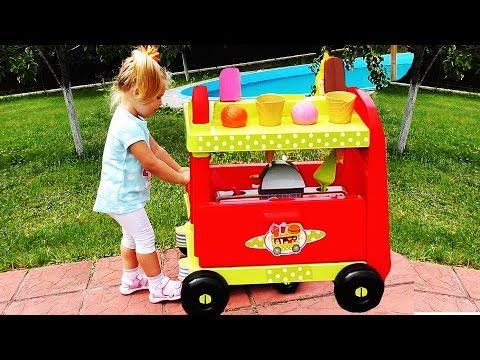 ✿ М�КДО��ЛЬДС �� КОЛЕС�Х Играем в Магазин Игры Дл� Детей Видео McDonalds KIDS Games Educational Toys
