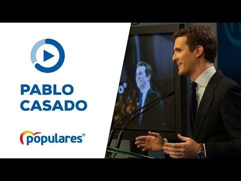 Comparecencia de Pablo Casado tras la convocatoria...