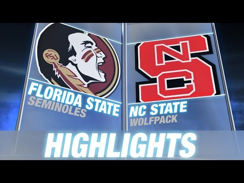 Florida State vs NC State %7C 2014 ACC Football Highlights