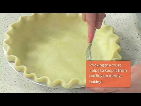 How to Make a Fluted Pie Crust