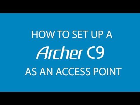 TP-Link AC1900 Wi-Fi Dual Band Gigabit Router (Archer C9) Access Point Mode Setup Tutorial Video