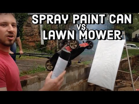 Here's What Happens When You Toss Paint Cans Into A Lawnmower