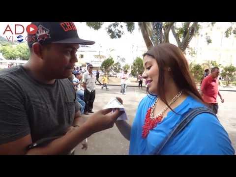 Preguntas en el centro de Tegucigalpa - Honduras