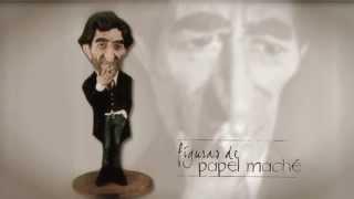Figura de papel maché de Joaquín Sabina