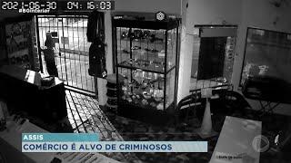Comércio é alvo de criminosos em Assis