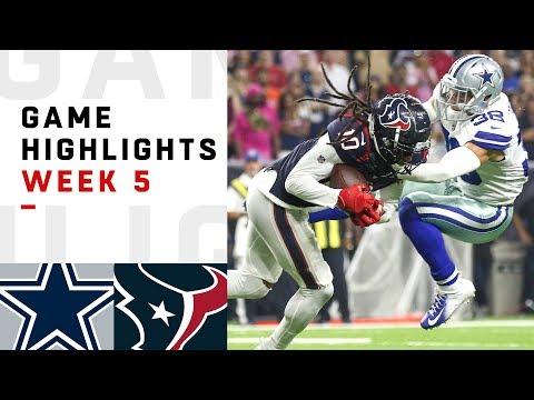 Cowboys vs. Texans Week 5 Highlights  NFL 2018