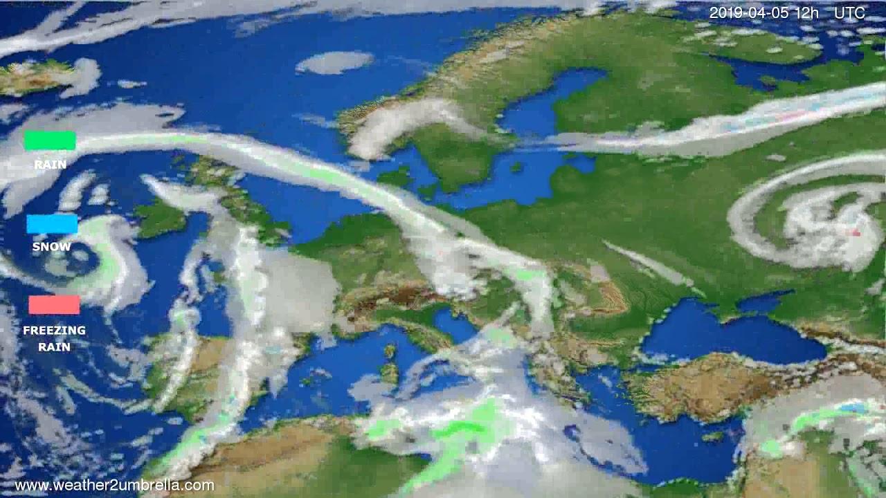 Precipitation forecast Europe // modelrun: 00h UTC 2019-04-03