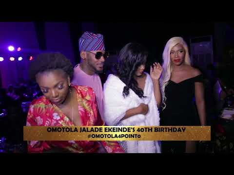 2baba, Tiwa, Dangote, Others Grace Omotola's 40th Birthday