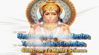 Hanuman Shabar Mantra To Destroy Enemies