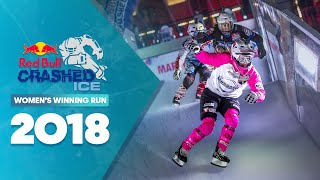 Who won Red Bull Crashed Ice 2018 France - Women's Winning Run. by Red Bull