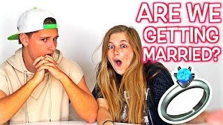 """ARE WE GETTING MARRIED?*SUBSCRIBE* & TURN ON NOTIFICATIONS! : LIKE & SHARE TO SUPPORT!Check out yesterday's vlog : I PUT HER IN THE HOSPITAL! **SHE CRIED, IT WAS AN ACCIDENT** : https://goo.gl/gQgouK▬▬▬▬▬▬▬▬▬▬▬▬▬▬▬▬▬▬▬▬▬▬▬▬Business Email: bookofken@gmail.comSocial Media:Instagram: http://instagram.com/BookOfKenTwitter: http://twitter.com/BookOfKenSnapchat: http://snapchat.com/add/BookOfKenFacebook: http://facebook.com/BookOfKenCarley's YouTube Channel: http://youtube.com/BookOfCarleyCarley's Instagram: http://instagram.com/BookOfCarleyCarley's Snapchat: http://snapchat.com/add/BookOfCarleyCarley's Twitter: http://twitter.com/BookOfCarleyCarley's Facebook: http://facebook.com/BookOfCarleySEND US LETTERS OR WHATEVER TO OUR P.O BOX! :""""BOOKOFKEN, PO BOX 398533, Miami Beach, FL 33239""""▬▬▬▬▬▬▬▬▬▬▬▬▬▬▬▬▬▬▬▬▬▬▬▬Royalty Free Music by http://www.audiomicro.com/royalty-free-music&https://player.epidemicsound.com"""
