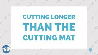2. Cutting Feet of Vinyl Without a Mat in Silhouette Studio