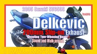 10. Delkevic Slip-on Exhaust--Suzuki SV650S--Sound & Walkaround Video