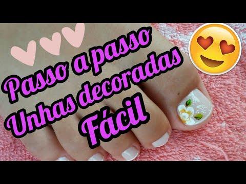 Unhas decoradas para os pés Fácil (CARGA DUPLA)