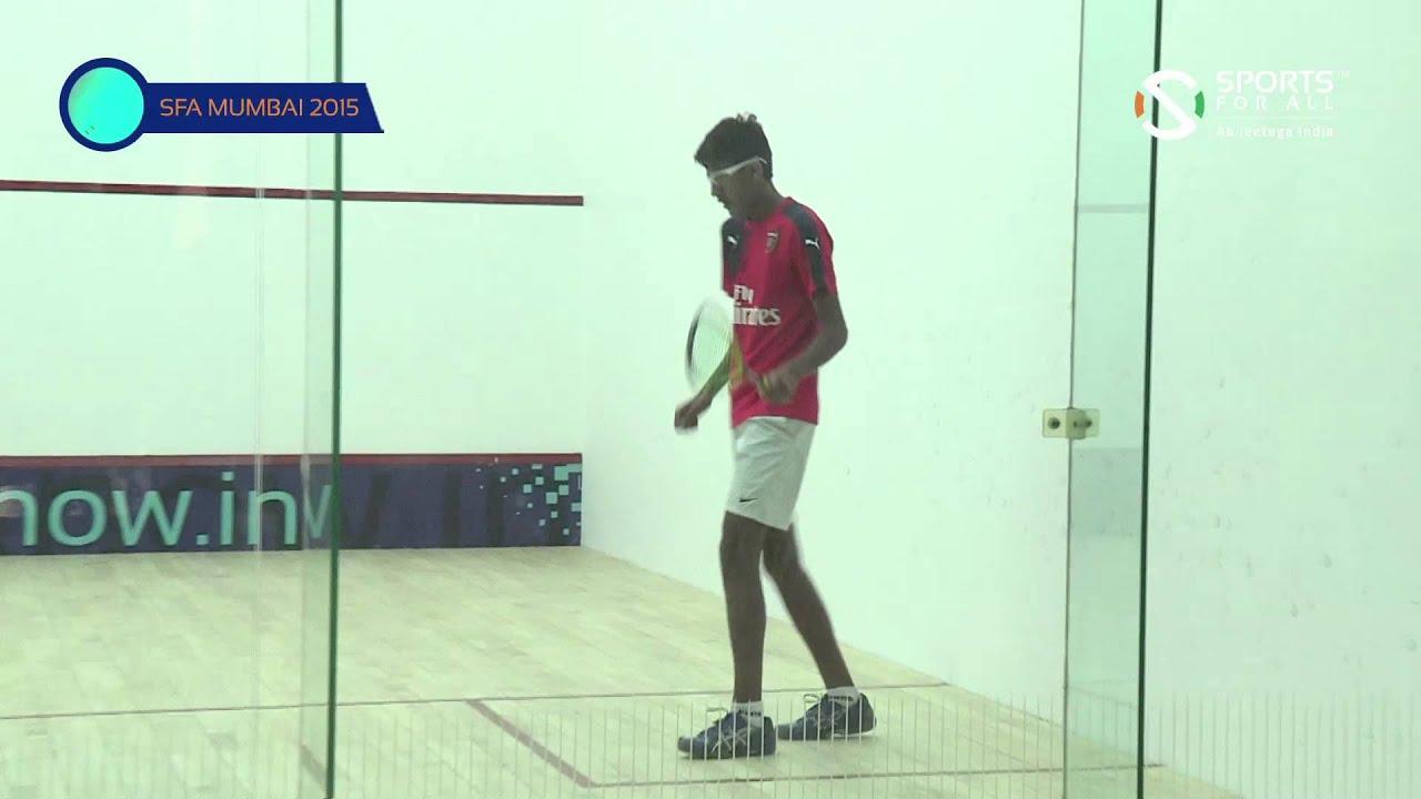 SFA Mumbai 2015 | Squash | Avinash Yadav Vs Vedant Ambani | U15 | Boys | Q/F