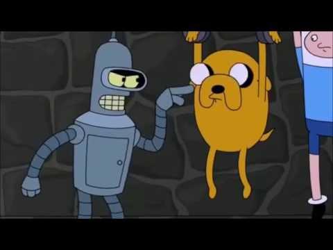 Finn y Jake Hora de Aventura en Futurama