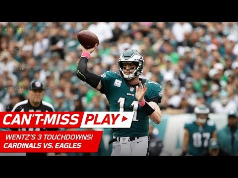 Video: Carson Wentz Can't Be Stopped in 1st Quarter w/ 3 TD Passes! | Can't-Miss Play | NFL Wk 5