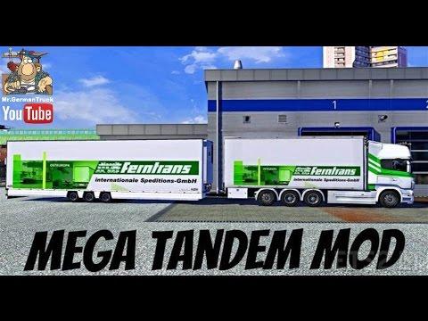 Mega Tandem Trailer v3.0 ETS2 1.25.x