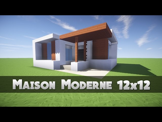 tuto maison moderne 12x12 minecraft. Black Bedroom Furniture Sets. Home Design Ideas