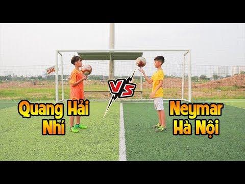 Thử thách bóng đá Quang Hải nhí Duy Trung đấu Neymar Hà Nội Văn Anh - Thời lượng: 11:19.