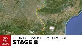 Tour De France Stage 8 Fly Through