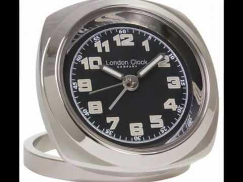 Chrome Travel Alarm Clock 6cm by London Clock Co