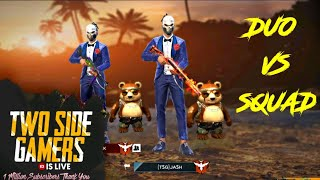 FREE FIRE PLAYING WITH GLOBAL PLAYER , DUO VS SQAUD  || RANK RUSH MATCH|| GARENA FREEFIRE LIVE