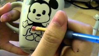 DIY mug painting. - YouTube