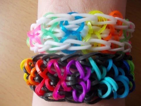 Rainbow Loom Bands Anleitung deutsch – dreifaches Schlaufen – Armband – Bracelet Rubber Bandz