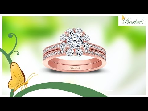 Barkev's Rose Gold Bridal Set - 8055SP