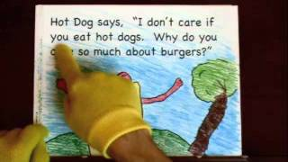 Reading Comprehension Activity - Pizza and Hot Dog Meet Burger  2