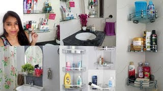 Indian Small Bathroom Organization | Indian Bathroom Storage ideas |  Indian Mom Studio