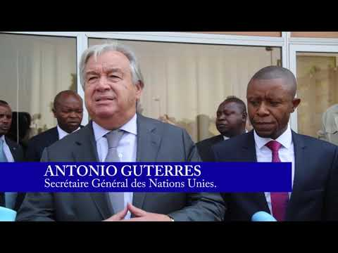 ARRIVEE DU SECRETAIRE GENERAL DES NATIONS UNIES A GOMA