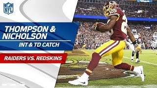 Chris Thompson's TD Catch Set Up by Montae Nicholson's Huge INT! | Raiders vs. Redskins | NFL Wk 3 by NFL