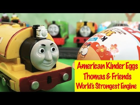 Thomas & Friends Surprise Kinder Eggs - World's Strongest Engine Toy Train Fun for Kids