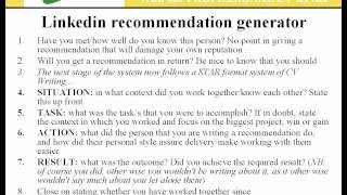how to leave recommendation on linkedin