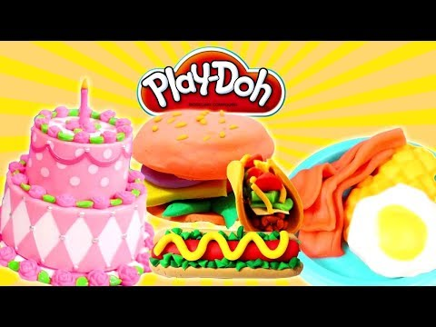 Cooking Play-Doh Food. Videos For Kids.