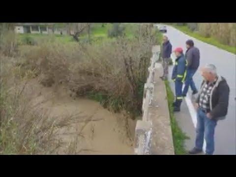Ηράκλειο: Αυτοκίνητο παρασύρθηκε στο Γεροπόταμο- 4 αγνοούμενοι