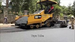 Addis Ababa asphalt road construction  መንገድ ግንባታ አዲስ አበባ