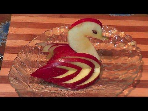 Украшения из яблок видео