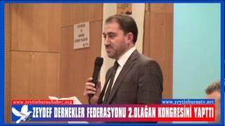 ZEYDEF Dernekler Federasyonu 2 Olağan Kongresini Yaptı