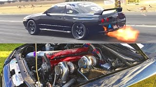 1200hp TWIN TURBO Skyline R32 by 1320Video