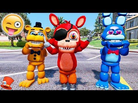 NEW ADVENTURE FOXY! NEW FOXY ANIMATRONIC IS HERE! (GTA 5 Mods For Kids FNAF RedHatter) (видео)